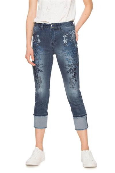 džínsy Desigual Karen denim dark blue