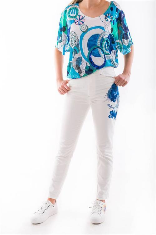 jeansy Desigual Gladis blanco