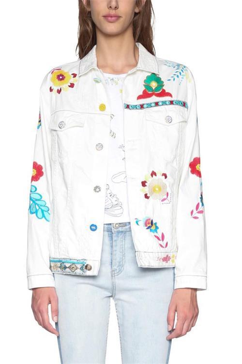 bunda Desigual Meg jeans white