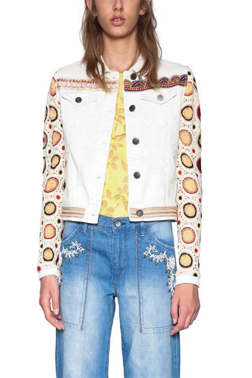 bunda Desigual Kenya jeans white