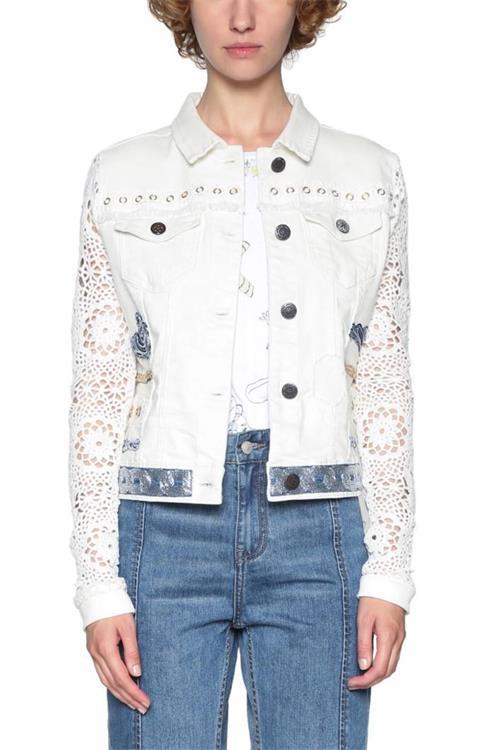 bunda Desigual Andra jeans white