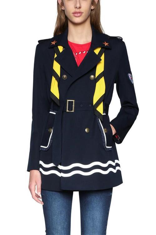 kabát Desigual Abrig Morgane marino