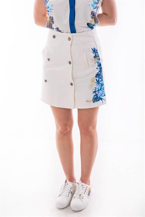 sukně Desigual Hali blanco