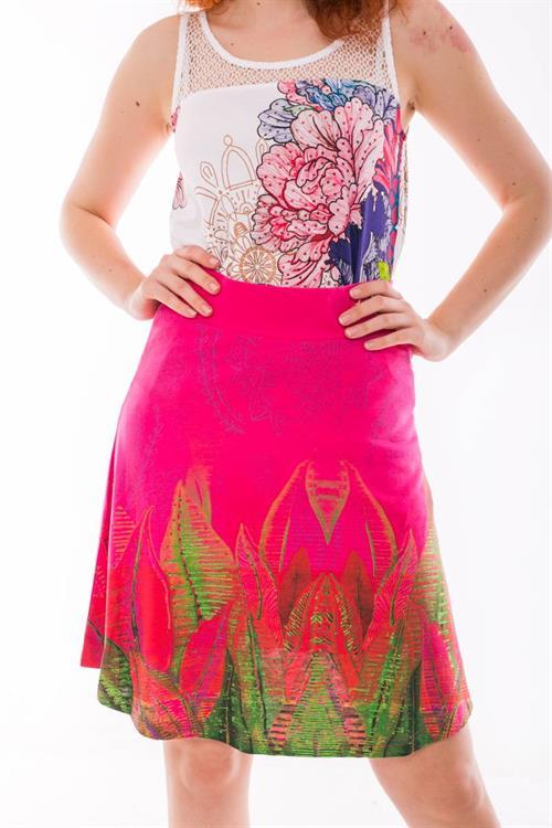 sukně Desigual Lua fuchsia rose