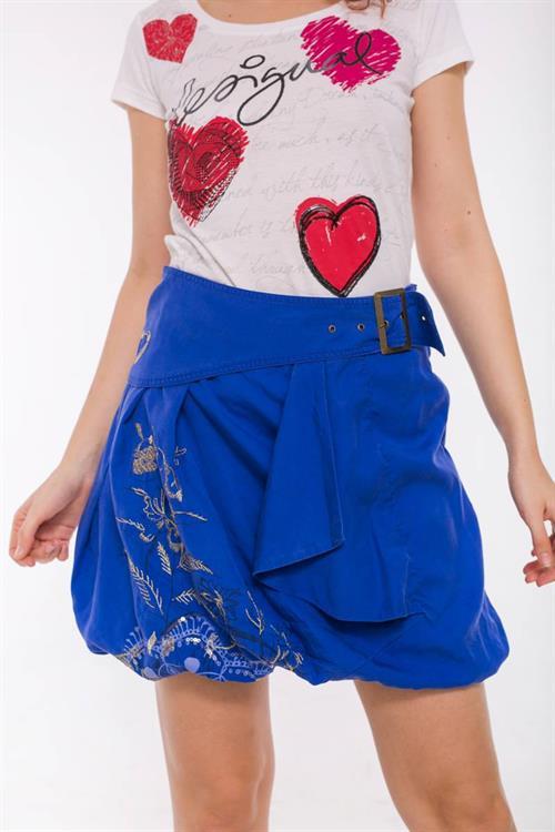 sukně Desigual Hallie azul klein