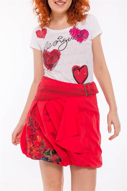 sukně Desigual Sira scarlet