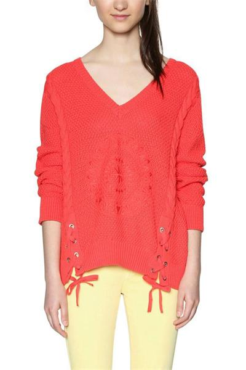 svetr Desigual Larix poppy red