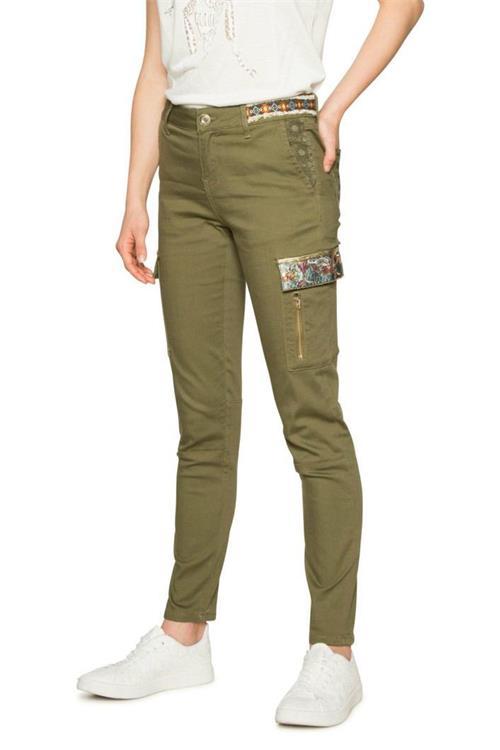 kalhoty Desigual Narcissus kaki