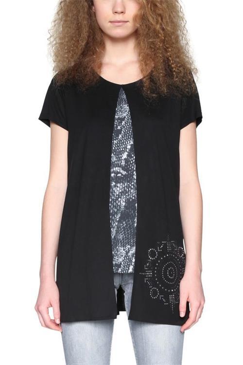 tričko Desigual Calandra negro