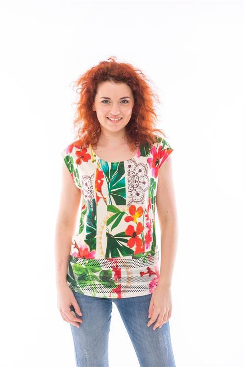 tričko Desigual Salome crudo