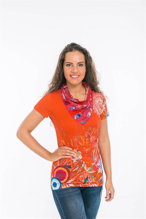 tričko Desigual Tatiana carmin