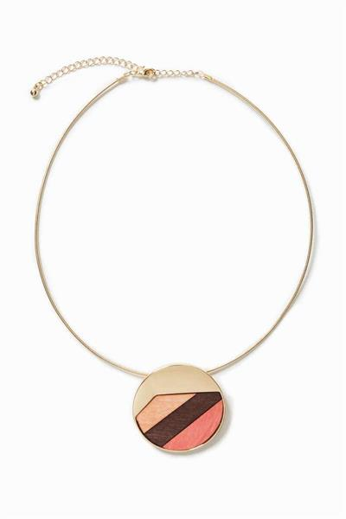 náhrdelník Desigual Wood Orange marron