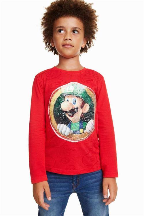tričko Desigual Joana rojo sangre