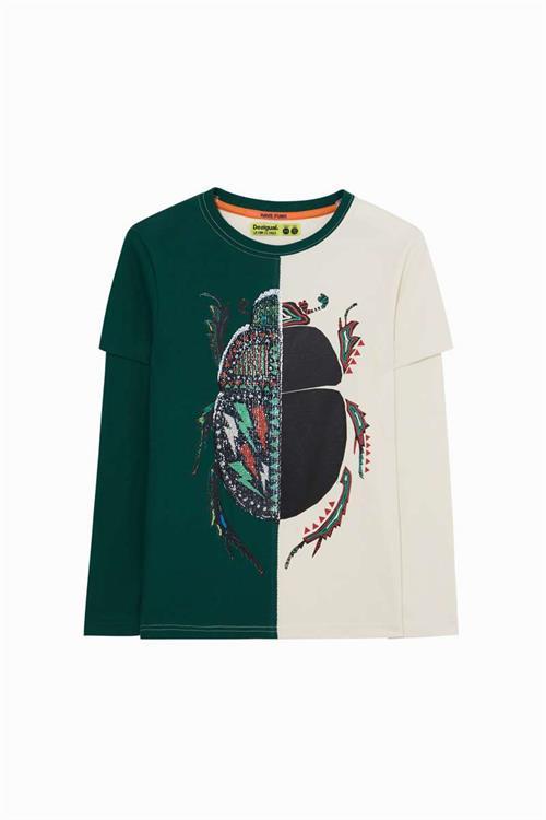 tričko Desigual Luis verde militar