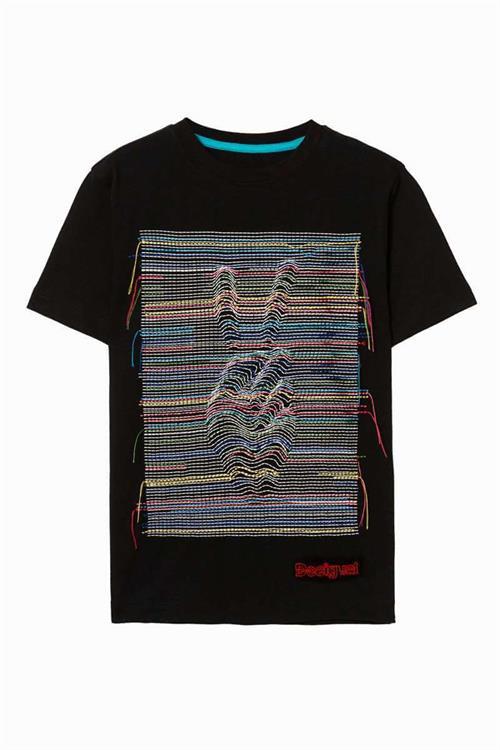tričko Desigual Peace negro