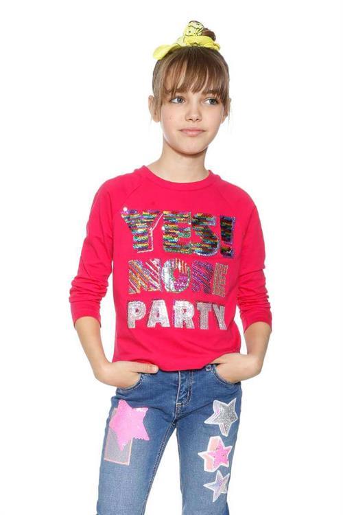 tričko Desigual Alberta fuchsia rose