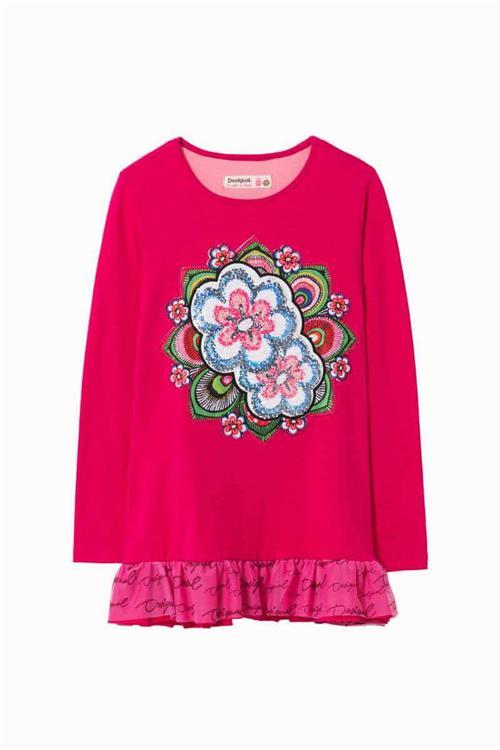 tričko Desigual Chilayo fuchsia rose