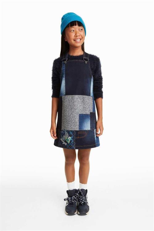 šaty Desigual Woolf azul mazarine