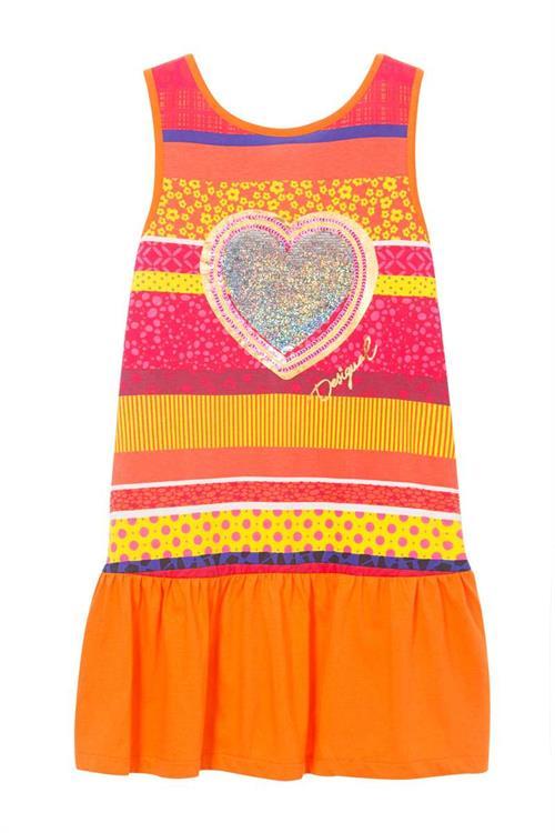 šaty Desigual Strap naranja