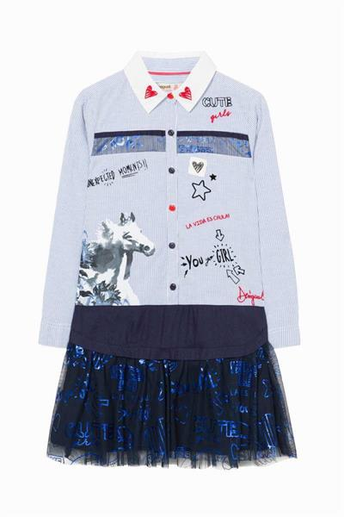 šaty Desigual Tacoma azul menorca