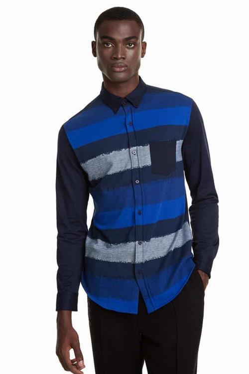 košeľa Desigual Bernard azul artico
