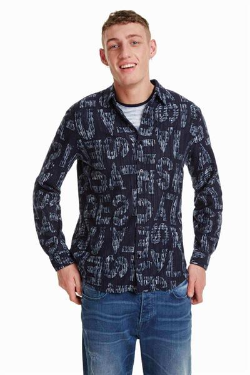 košile Desigual Pablo navy