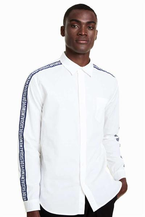 košile Desigual Julio blanco