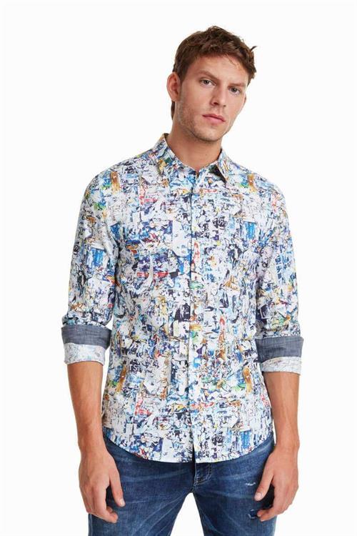 košile Desigual Gerard blanco