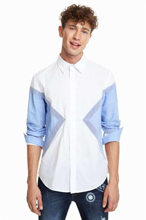 košile Desigual Manuel blanco