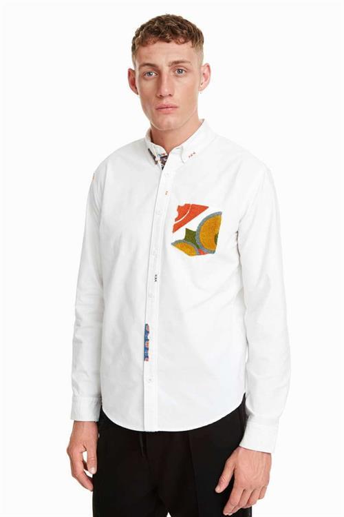 košile Desigual Pere blanco