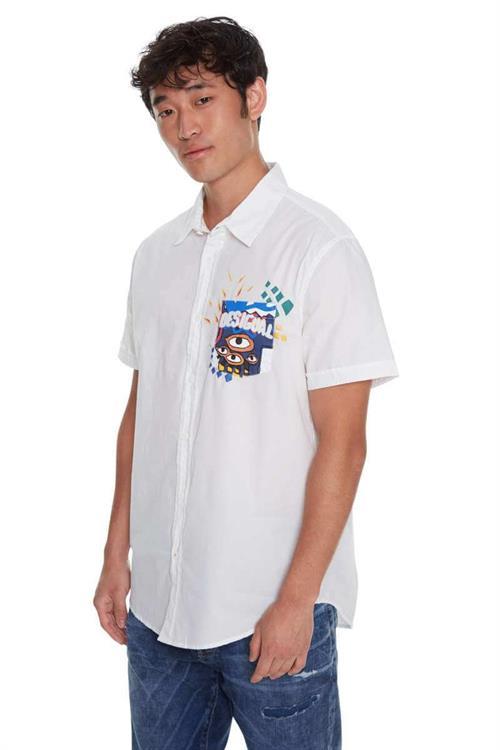 košile Desigual Eyes blanco