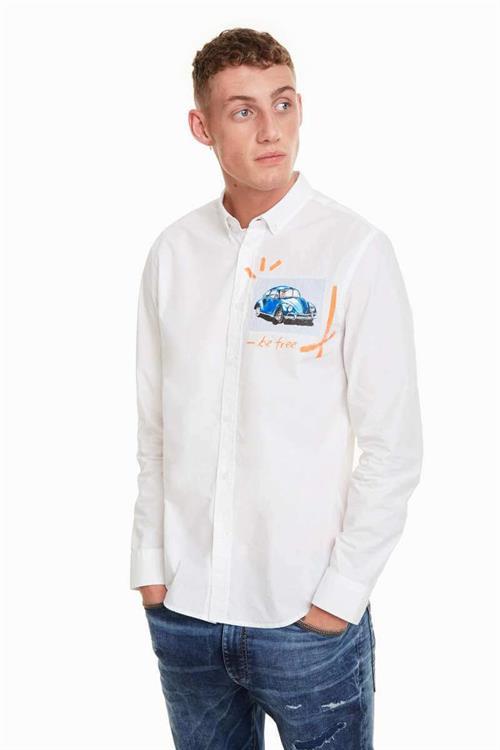 košile Desigual Marcelo blanco