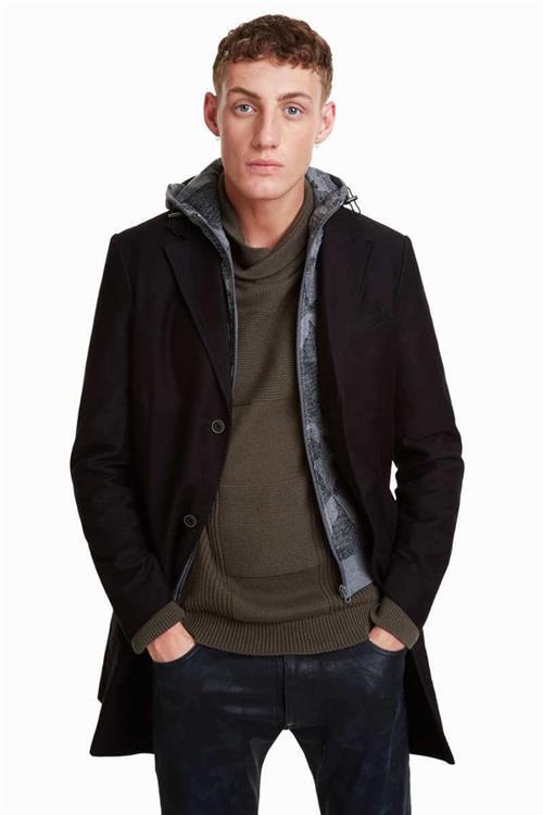 kabát Desigual Calmer negro
