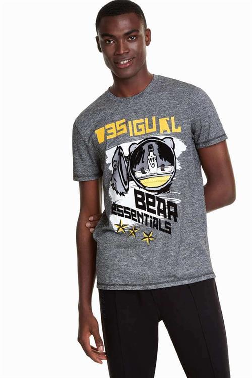 tričko Desigual Gage gris vigore claro