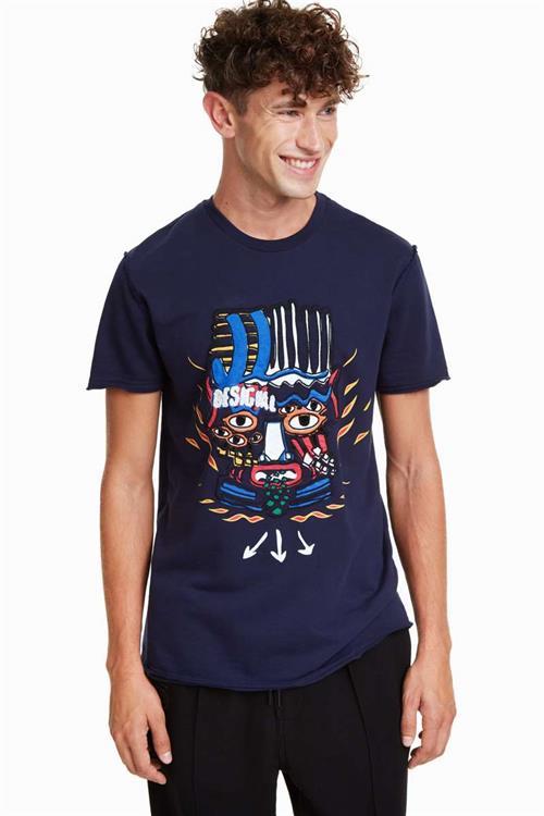tričko Desigual Giuliano azul artico