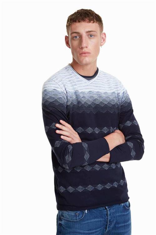tričko Desigual Adler azul artico