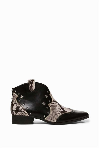 boty Desigual Cowgirl Ankle negro