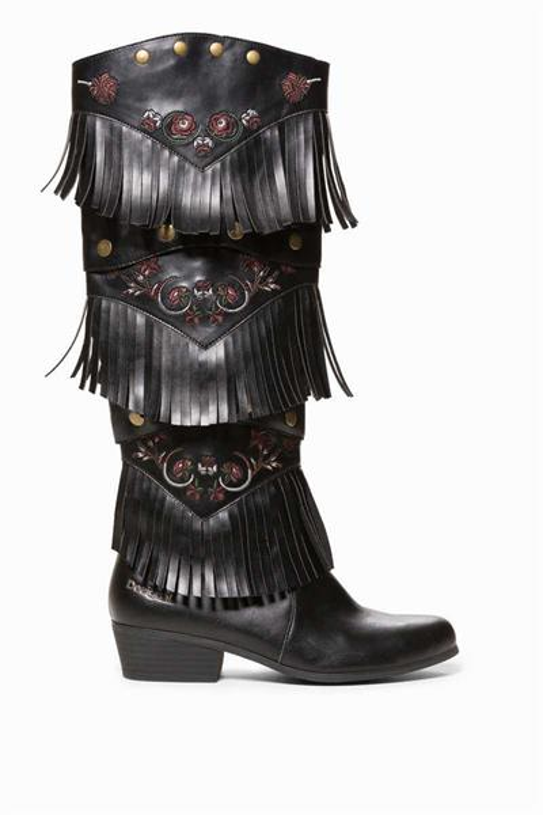 topánky Desigual Totem Gipsy Patch negro