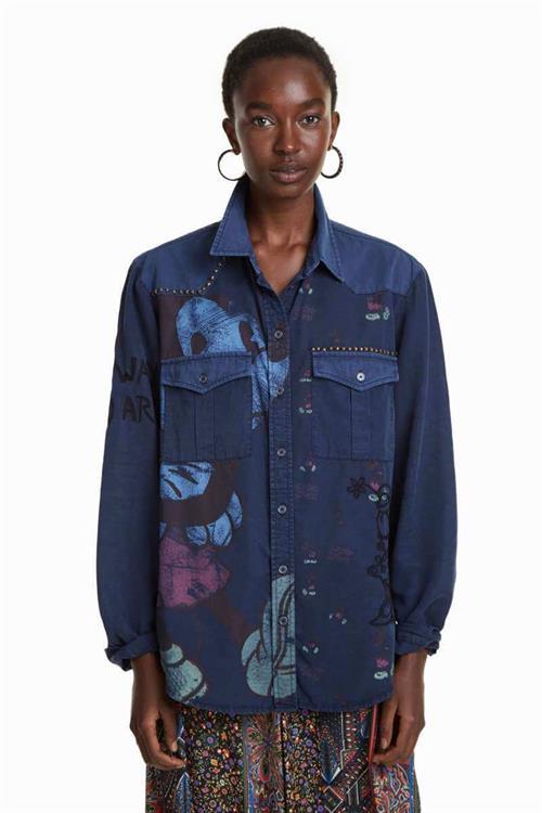 košeľa Desigual Walt navy