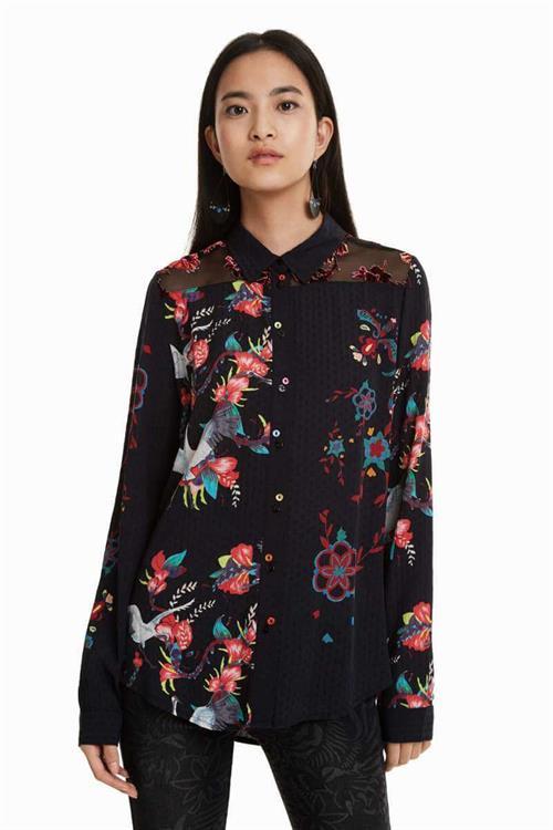 košeľa Desigual Magnolia negro