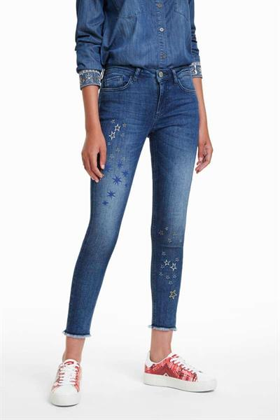 džínsy Desigual Michelle denim medium dark