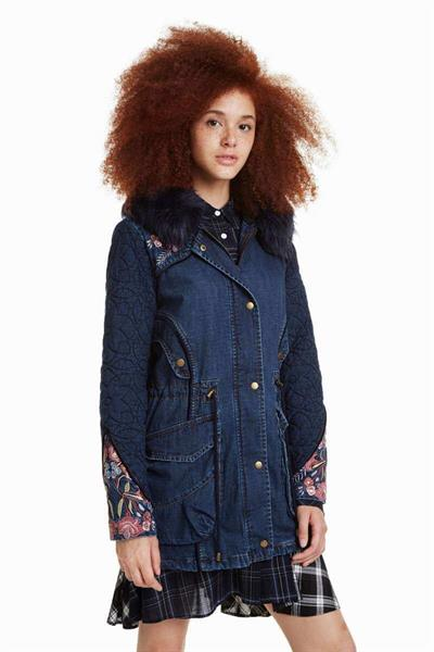 bunda Desigual Renne denim dark blue