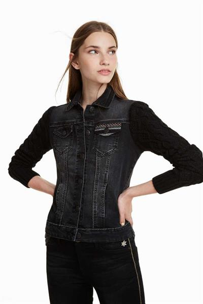 bunda Desigual Black Panther denim black wash