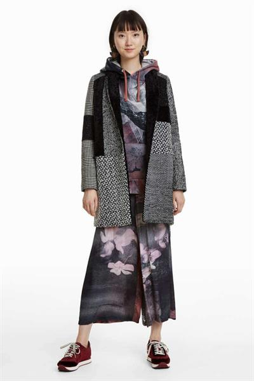 kabát Desigual Merlon gris oscuro