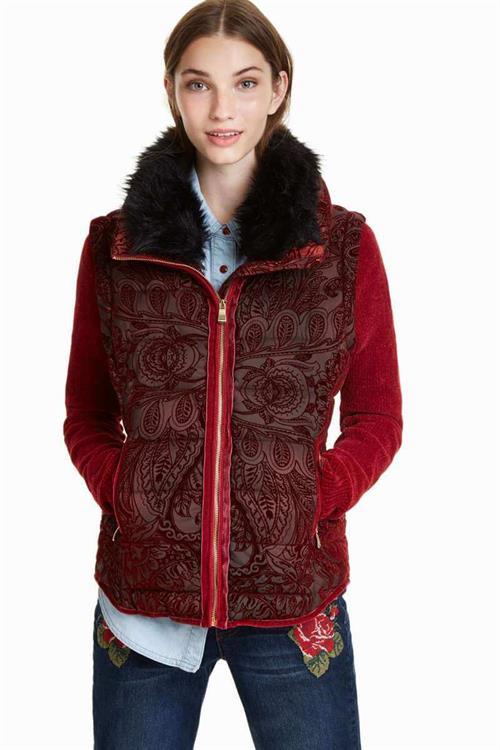 kabát Desigual Alexandra borgona