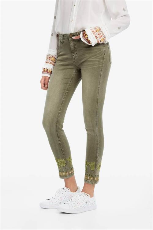 jeansy Desigual Petricor musgo