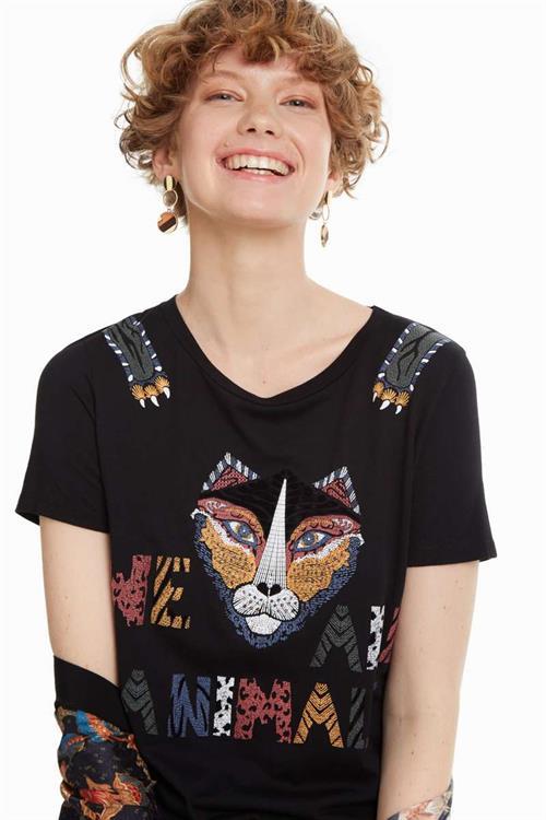 tričko Desigual Tris negro