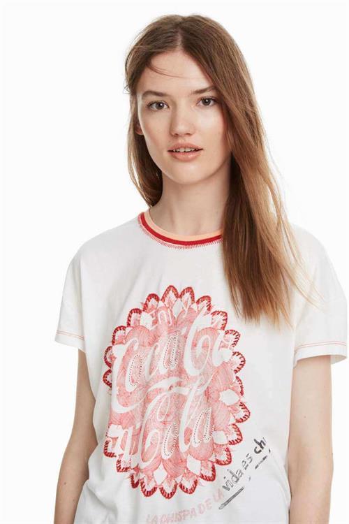 tričko Desigual Enjoy blanco