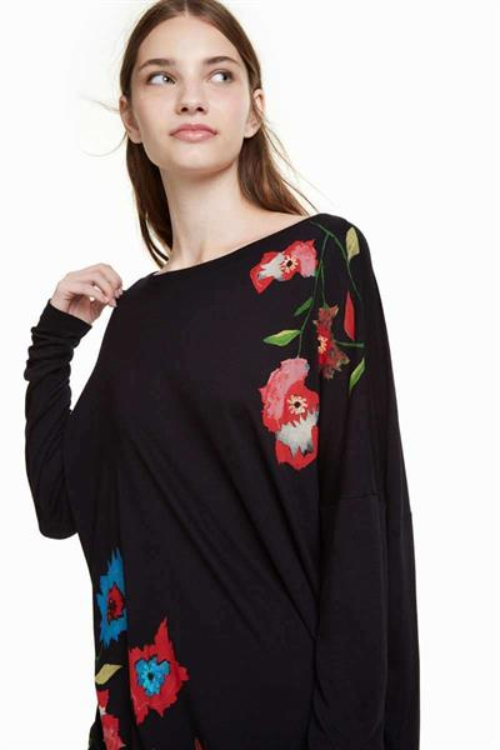 tričko Desigual Amsterdam negro