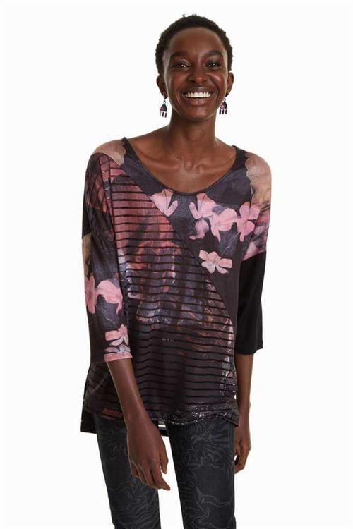 tričko Desigual Belgica rosa glamour